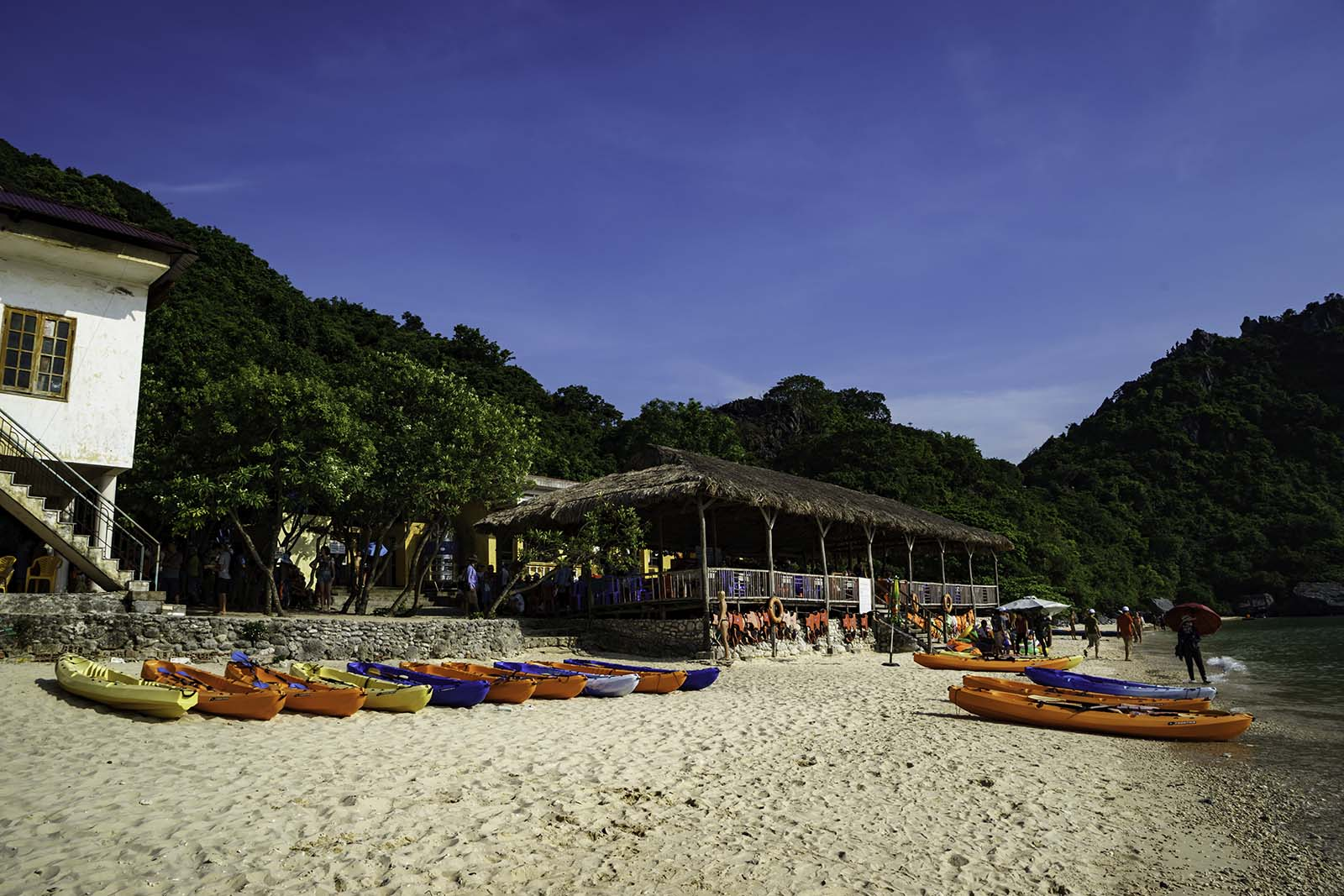 Where you can find a place to rent a kayak in Cat Ba Island
