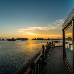 Sunset with the islands of halong bay on the background Destination Gallery
