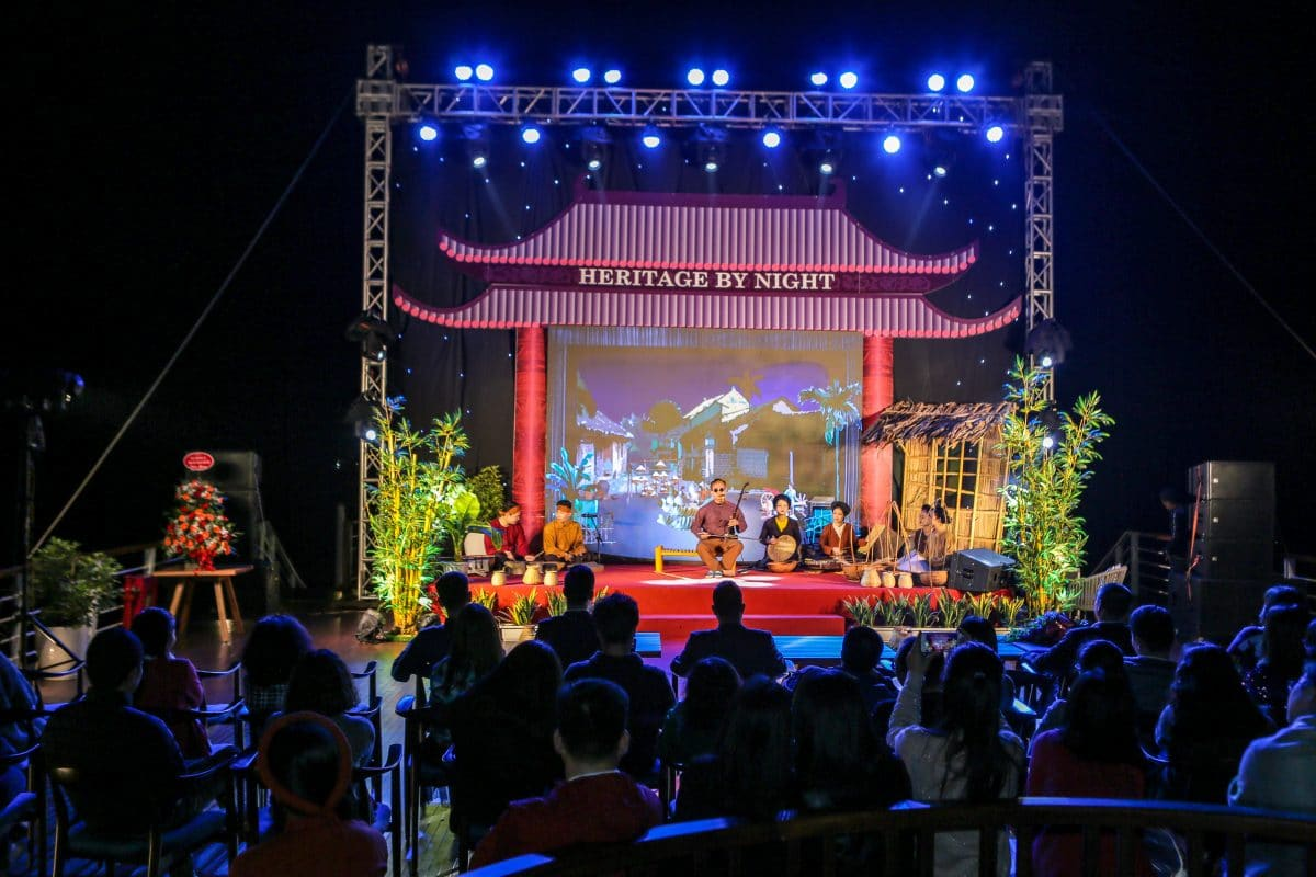 "The performances in ""Heritage By Night"" on board"
